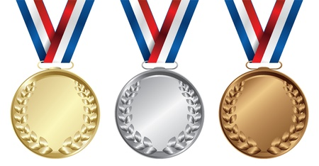 official record: Three medals, Gold, Silver and bronze for the winners