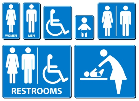 illustration toilette sign Vector
