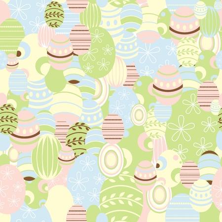 ester: Easter background, vector - recurrent  Illustration