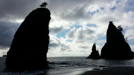 rock formation: Rock formation on the Washington State coast.