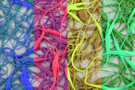 Neurons - 4 Color Split into 4 Bright Colors Stock Photo - 761384