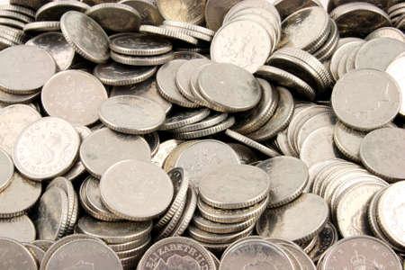 dosh: Stacks of Money on a white Background  Stock Photo