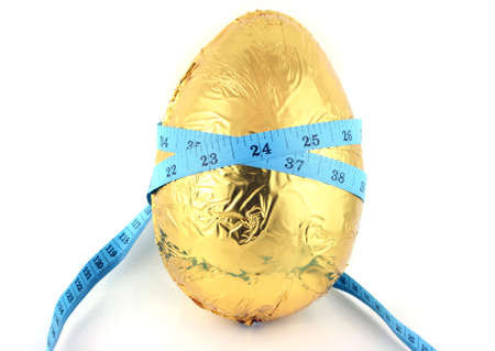 Easter Egg with Tape Measure round it photo