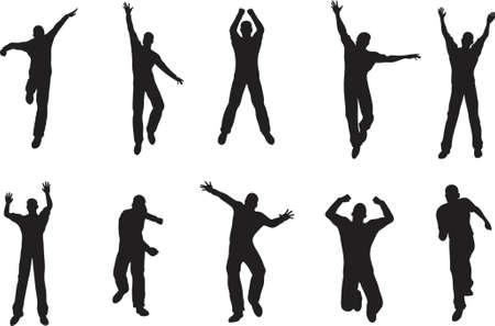 stride: 10 Male poses Illustration