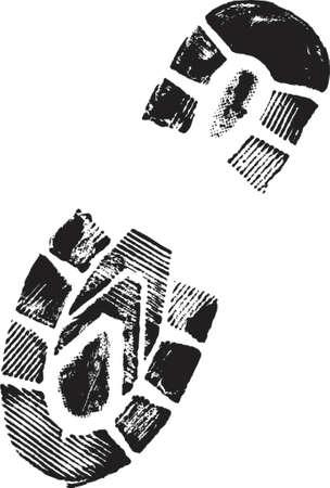 theft proof: Bootprint Illustration