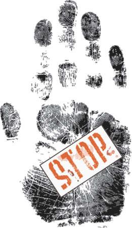 forensics: Stop - on Handprint