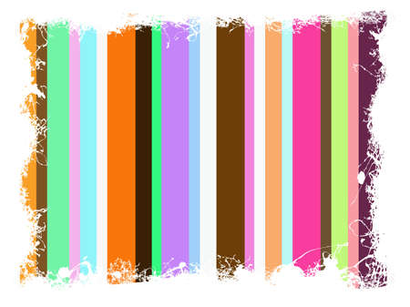 Funky Background with a white grunge border  Vector