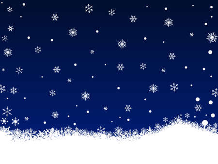 Border of snowflakes on a Dark Blue background with Copyspace Stock Vector - 1876501