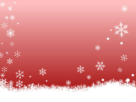 Border of snowflakes on  a red background Stock Vector - 1876498