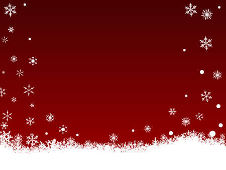 Border of snowflakes on  a Dark Red background with Copyspace Stock Vector - 1876499