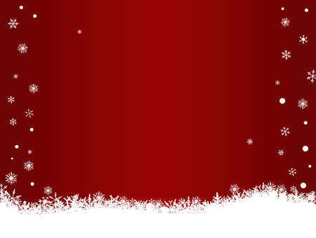 Border of snowflakes on a Red background with Copyspace Stock Vector - 1876497