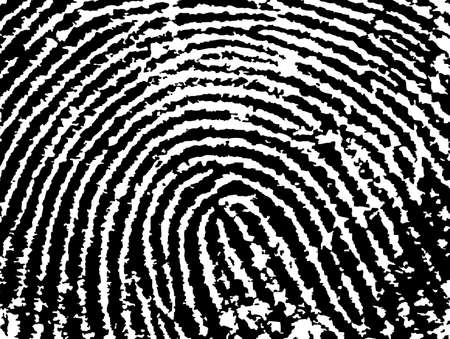 Black and White Vector Fingerprint Crop  - Low Poly Count Vector