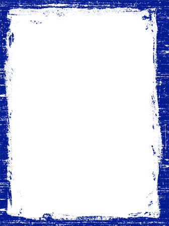 Dark Blue Grunged Border -  Highly Detailed vector grunge graphic.  Vector