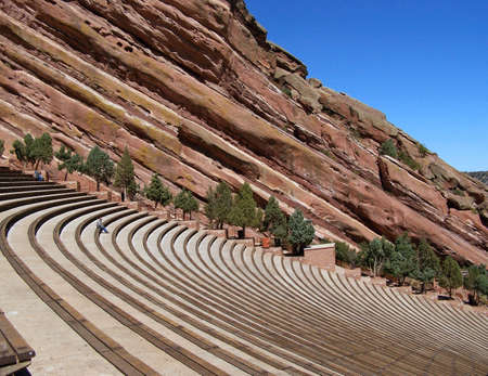 rock formation: Red Rocks Amphitheater in Denver Colorado