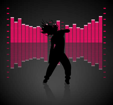 Teen Girl Dancing Vector