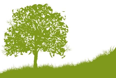 feuille arbre: Saison Eté Illustration