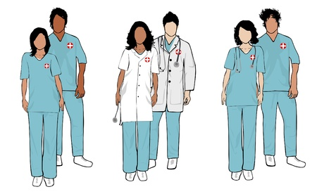 medical people: Doctor Series Illustration