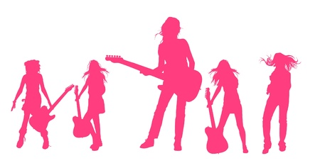 rocker girl: Tocando guitarra serie