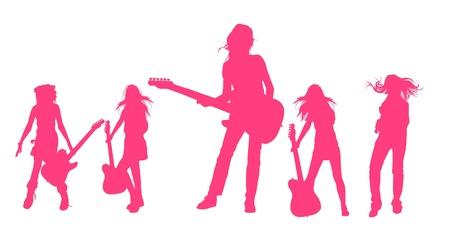 rocker girl: Tocando guitarra serie