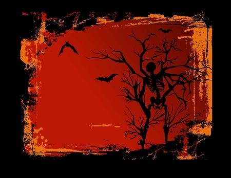 Skeleton Grunge Background Vector