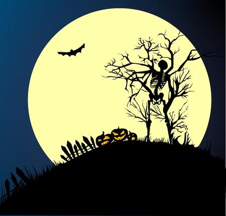 Skeleton On Halloween Stock Vector - 10425284