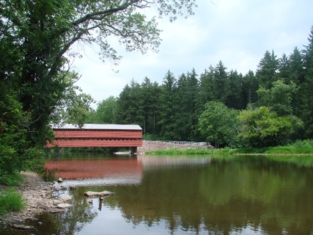 Sachs Covered Bridge Gettysburg PA Stock Photo