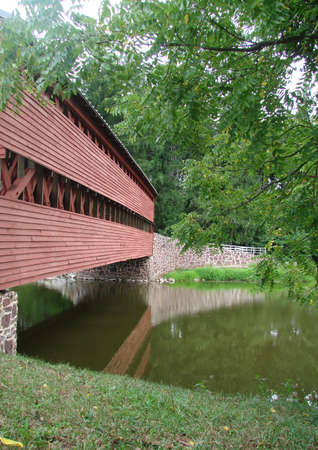 Sach's Covered Bridge Gettysburg PA Stock Photo - 10443623