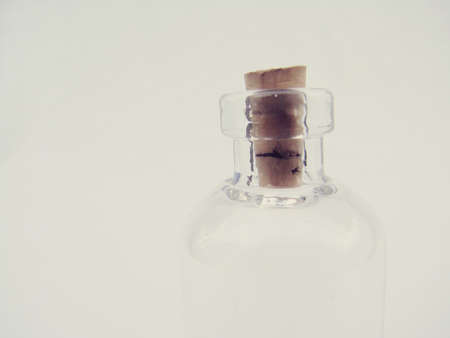 Empty Glass Bottle Isolated