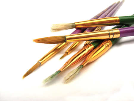 Artist Paint Brushes Isolated