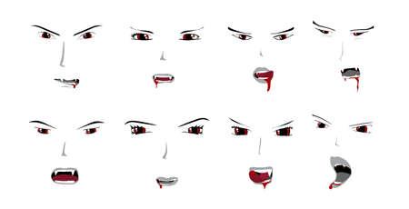 vampire: Vampire Faces Collection Illustration