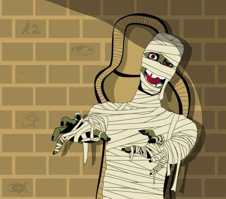 cartoon egyptian: Egyptian Mummy