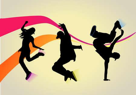 baile hip hop: Así que ¿quieres bailar? Vectores