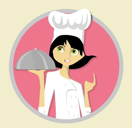 jefe de cocina: Joven Chef Vectores