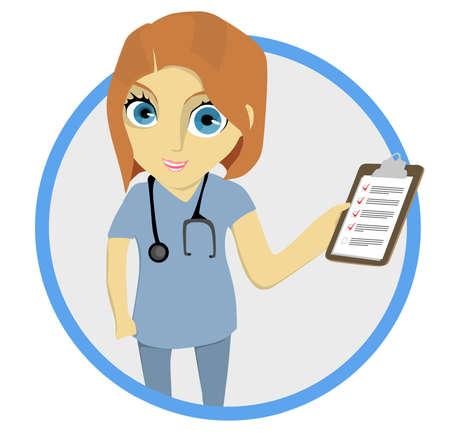 Illustrated Female Nurse