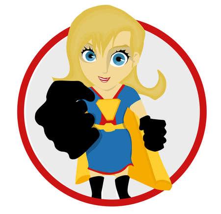 Illustrated Female Super Hero