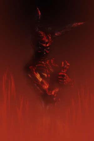 demon in fire photo