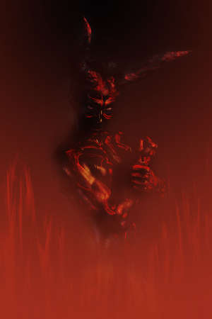 demon in fire Stock Photo - 468766