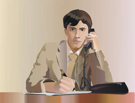 Vector business Illustration:Portrait of a businessman. Vector