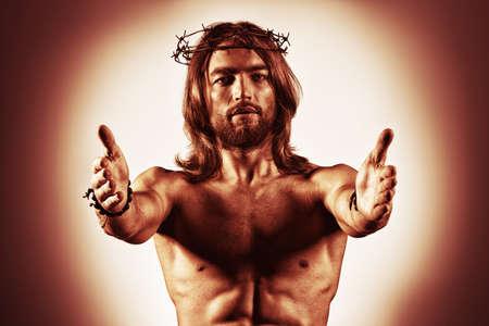 mano de dios: Jesucristo se acerca a la humanidad.