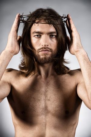 antique jesus: Portrait of Jesus Christ. Religion.