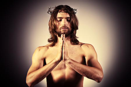 Jesus Christ is praying. Religion. photo