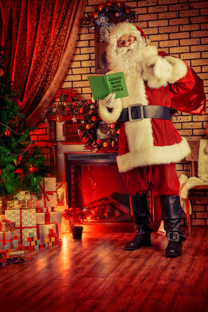 Santa Claus brought gifts for Christmas. photo
