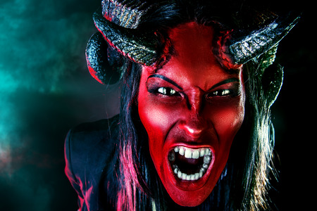 diabolic: Portrait of a devil with horns