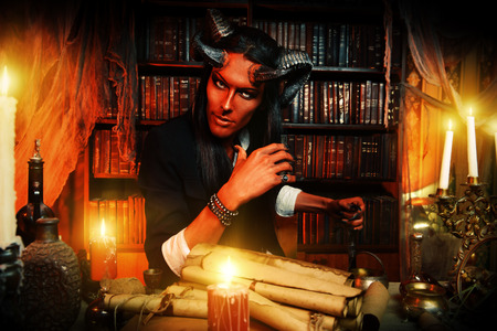 lucifer: Horned Devil in his home