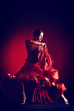 vigorously: Professional dancers perform latino dance. Passion and expression.