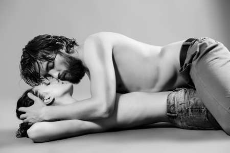 boy  naked: Beautiful passionate lovers. Love concept. Stock Photo