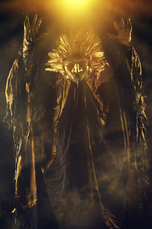 legends folklore: Metaphorical idea of the sun. Folklore. Paganism, worship of the sun. Stock Photo