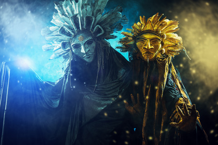 paganism: Metaphorical idea of the sun and the moon. Folklore. Paganism, worship of the sun and the moon.