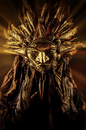 paganism: Metaphorical idea of the sun. Folklore. Paganism, worship of the sun. Stock Photo