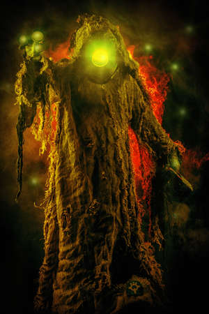 fantasy: Post-apocalyptic futuristic character. Fantasy. Steampunk.